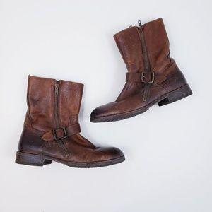 Frye Men's Dean Engineer Boot Size 9 Cognac